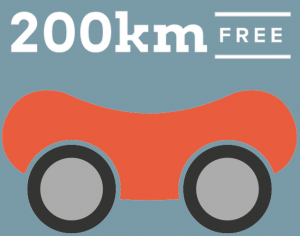 200km free each day