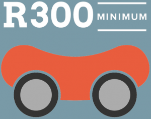 Minimum rental is just R300 on car hire